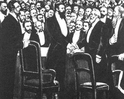 تيودر هرتزل في المؤتمر الصهيوني الأول