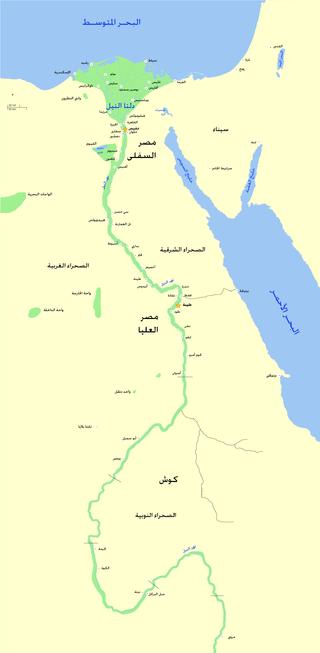 خريطة مصر القديمة