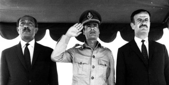 حافظ الأسد - القذافي - السادات