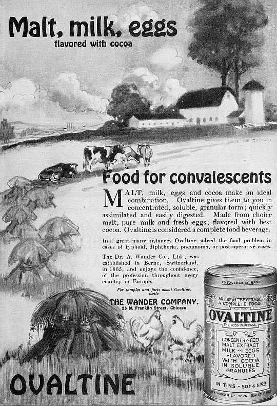 إعلان أجنبي سنة 1909 عن أوفالتين