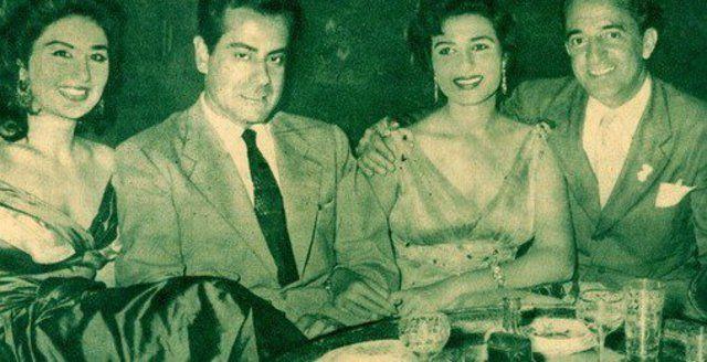 حسين فوزي ونعيمة عاكف وفريد الأطرش