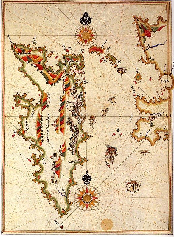 خريطة جزيرة خيوس في القرن الـ 16