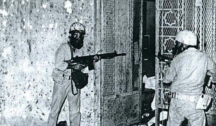 قوات الأمن السعودية أثناء فض اقتحام الحرم