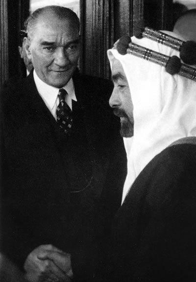 أتاتورك في لقاء مع الملك عبد الله الأول بن الحسين