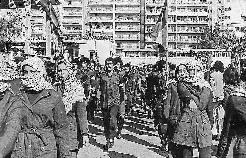 فدائيوا وفدائيات حركة فتح في لبنان عام 1979