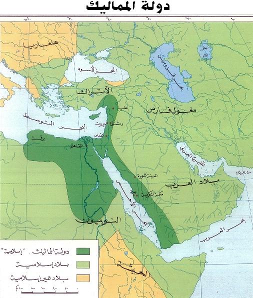 خريطة دولة المماليك
