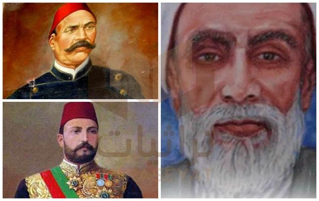 الشيخ محمد الإنبابي - أحمد عرابي - الخديوي توفيق