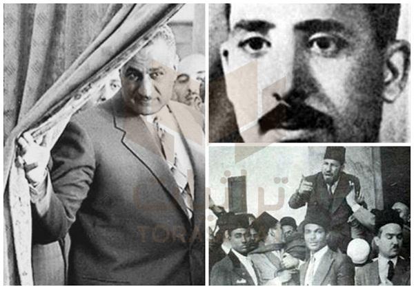 عبدالرحمن السندي - حسن البنا - جمال عبدالناصر