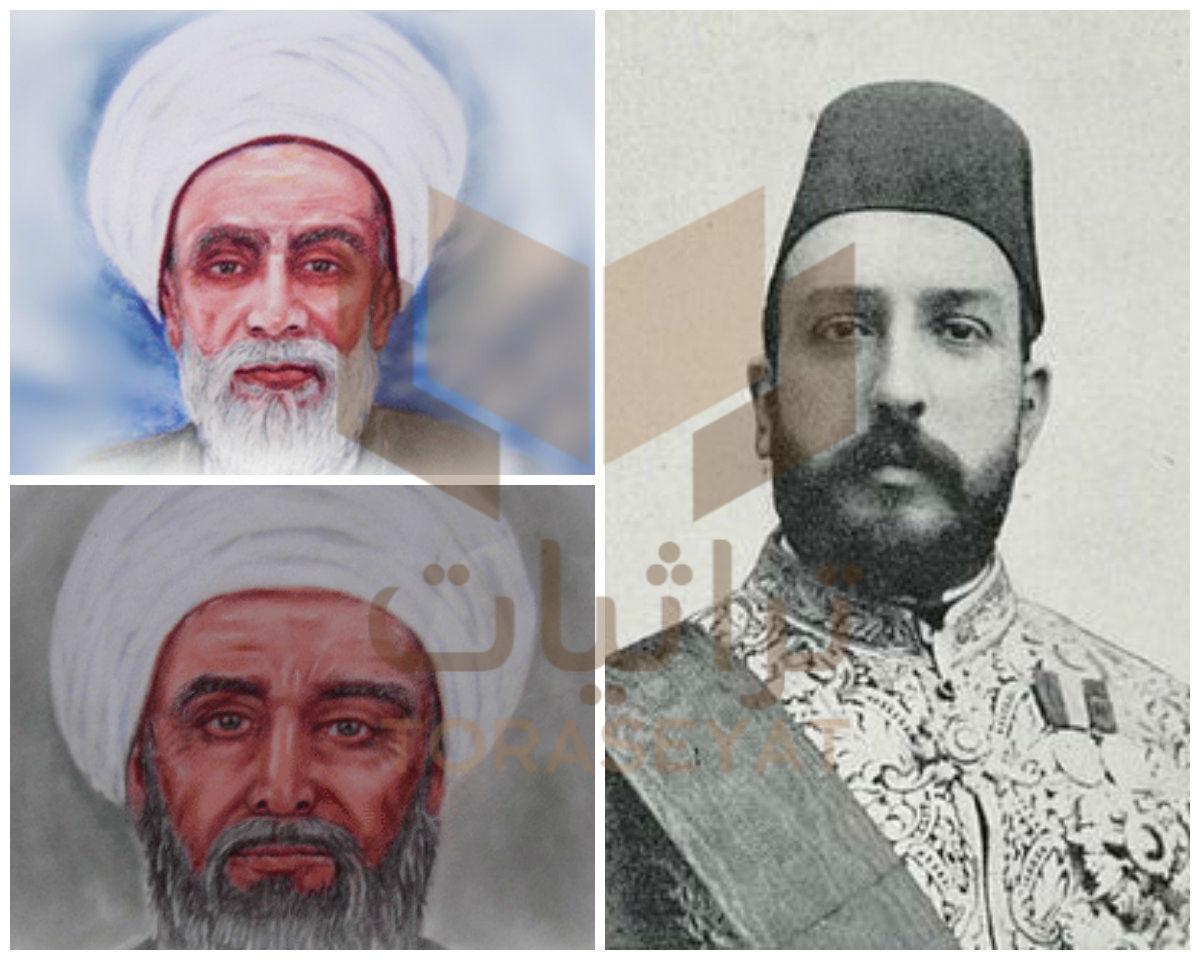 الخديوي توفيق و الشيخان الإنبابي و العباسي