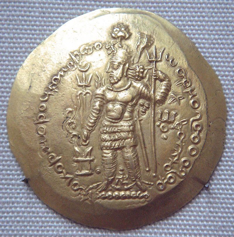 عملة معدنية تحمل صورة الإمبراطور الساساني هرمز الأول