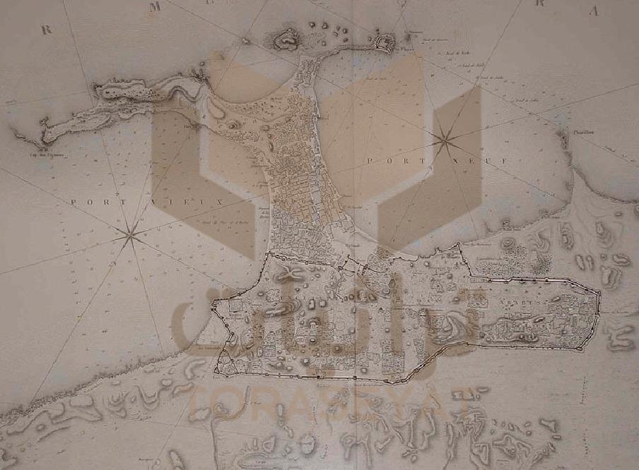 خريطة الاسكندرية أواخر عصر محمد علي