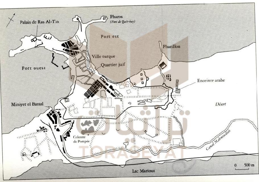 خريطة الإسكندرية عام 1855 م