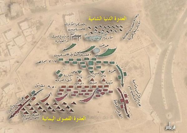 خريطة غزوة بدر