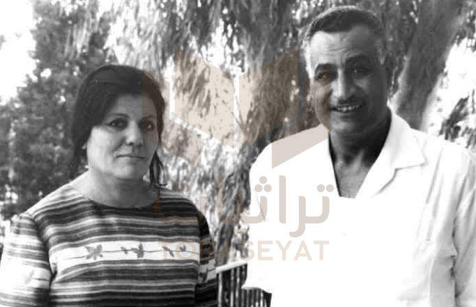 عبدالناصر و زوجته