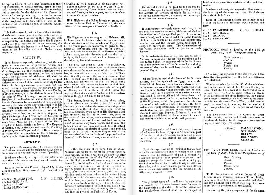 النسخة الإنجليزية من معاهدة لندن