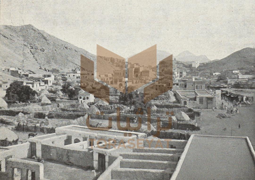 منازل منطقة مقياس المياه في حي جبل الكعبة بمكة سنة 1901 م ولا يوجد لها أثر الآن