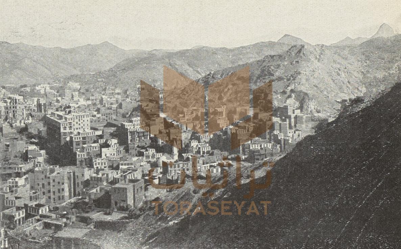 بيوت مكة وقمم جبل غار حراء