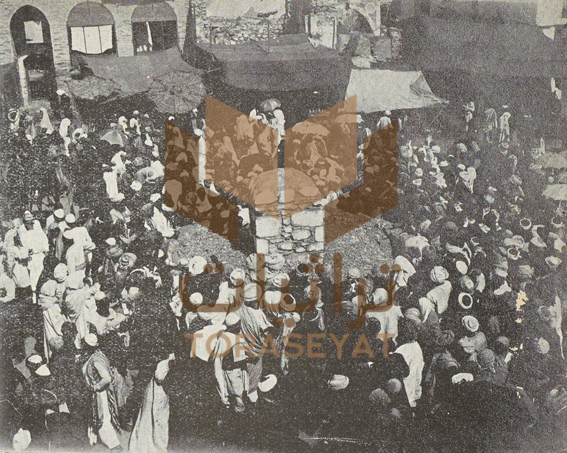 رمي الجمرات سنة 1901 م