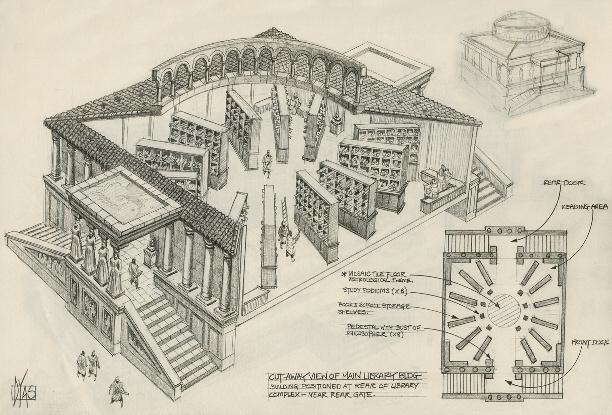 مكتبة الإسكندرية القديمة