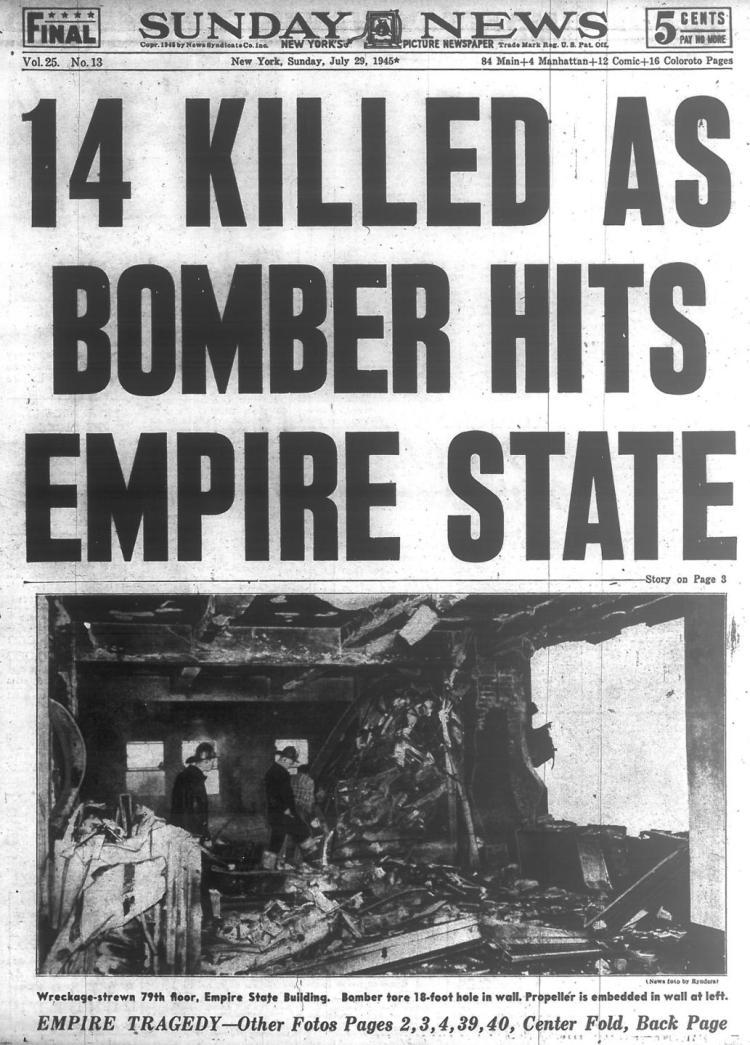 أخبار الصحف الأمريكية عن تفجير مبنى إمباير