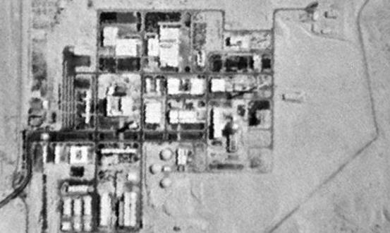 مفاعل ديمونة عبر الأقمار الصناعية