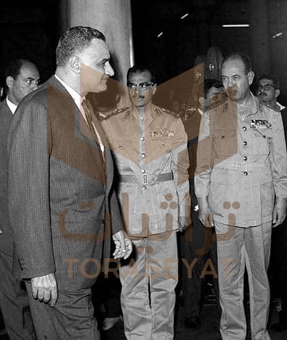 المشير فوزي و الرئيس جمال عبدالناصر