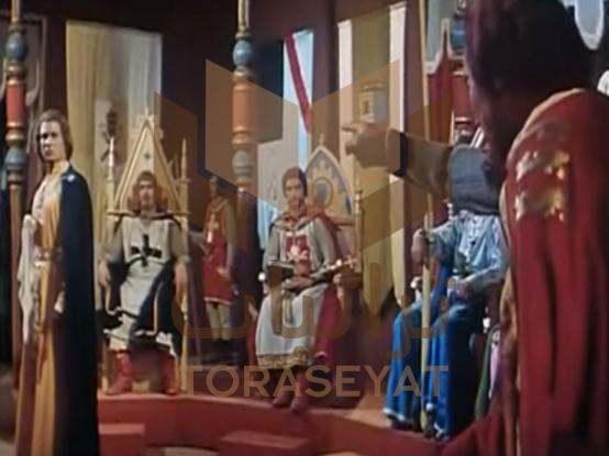 مشهد لـ عمر الحريري في فيلم الناصر صلاح الدين