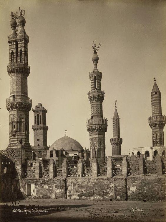 الجامع الأزهر ومسجد محمد أبو الدهب سنة 1859 م