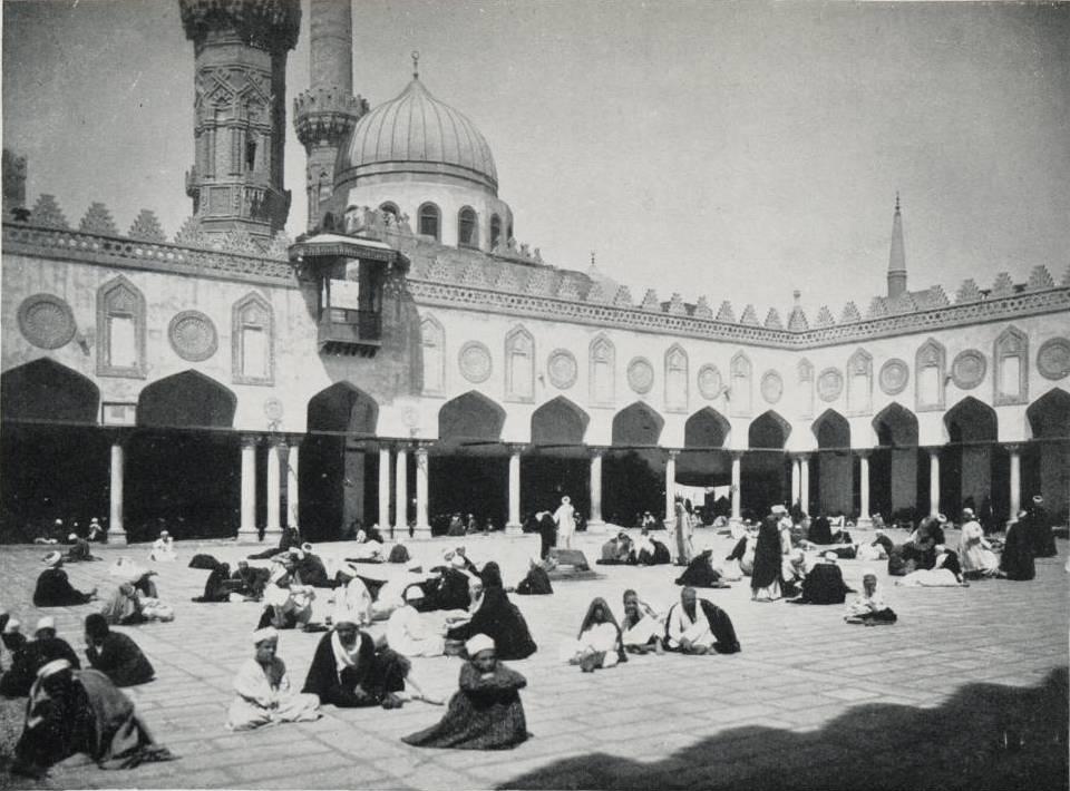 حلقات التدريس الجامعي في الأزهر الشريف عام 1906
