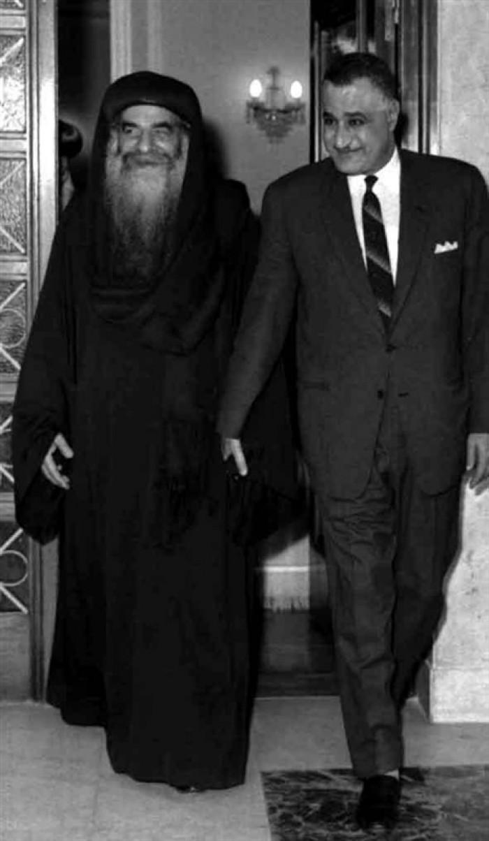 البابا كيرلس وجمال عبد الناصر