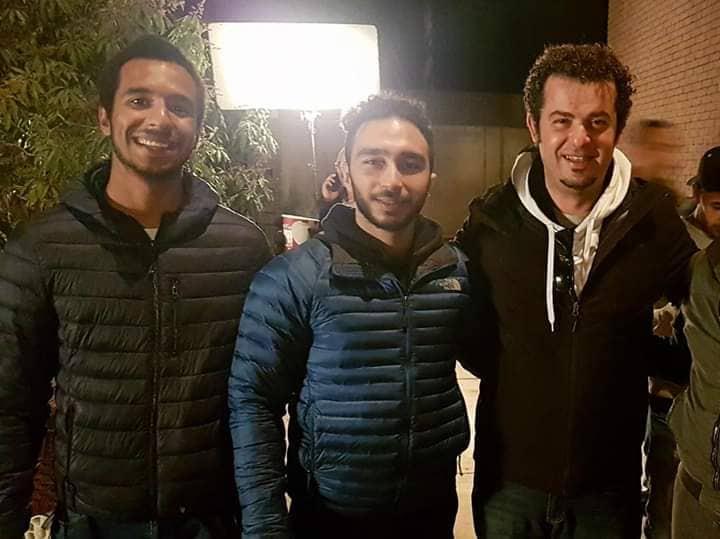 عمر مجدي نور مع مدير التصوير مازن المتجول والمصور أدهم عصام