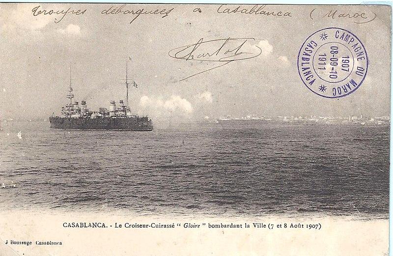 قصف الدار البيضاء المغربية عام 1907 من قبل القوات الفرنسية