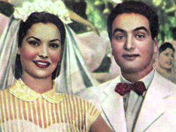 محمد فوزى ومديحة يسرى