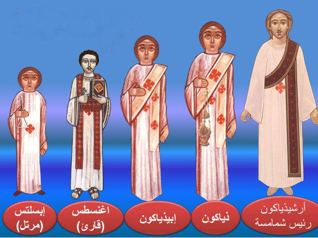 مراحل الشماس في الكنيسة القبطية