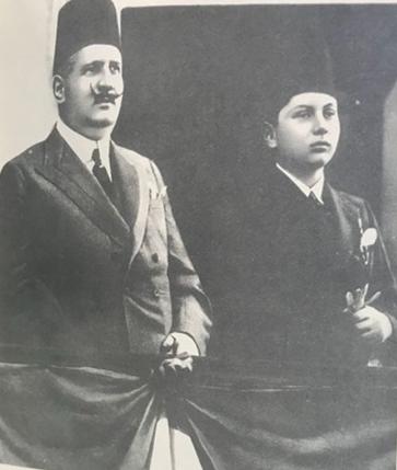 الملك فؤاد وولي عهده فاروق