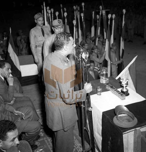 جمال عبدالناصر في معسكر الشباب عام 1953