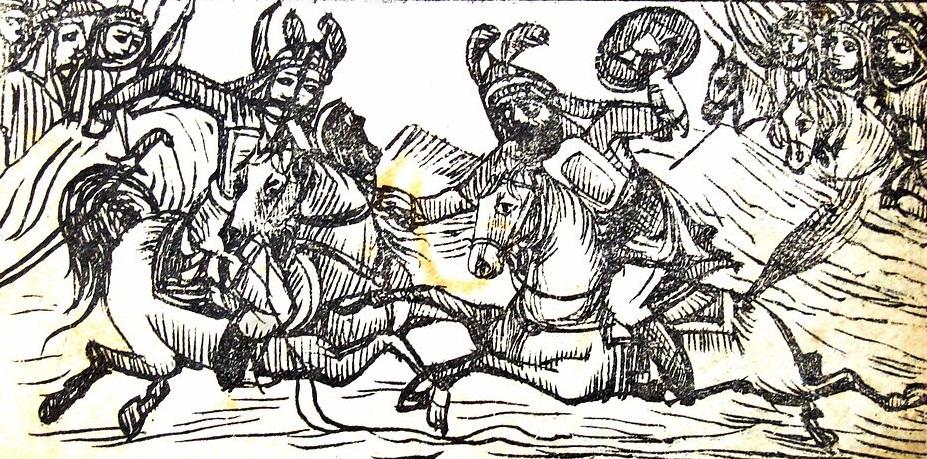 رسمة تعبيرية عن معركة كربلاء