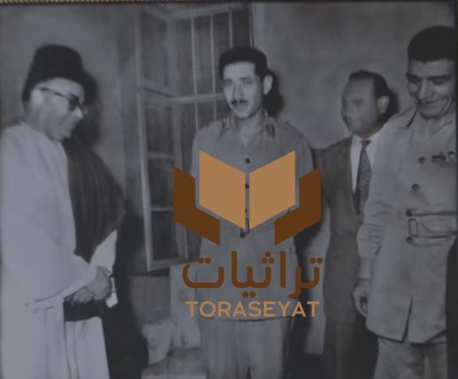 والد عمار الشريعي مع المشير عبدالحكيم عامر واللواء محمد نجيب