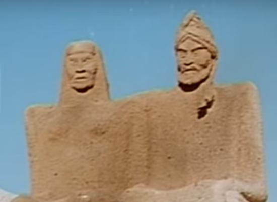 إساف ونائلة في فيلم هجرة الرسول