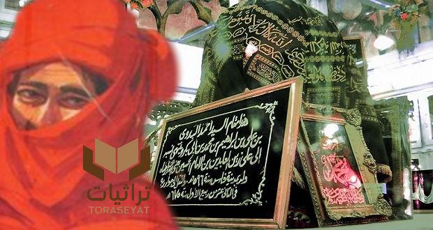 السيد البدوي بلثامه الشهير في رسمة مصطفى حسين وضريحه
