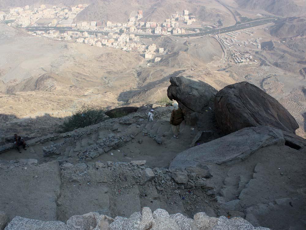 قمة الجبل الذي فيه غار ثور