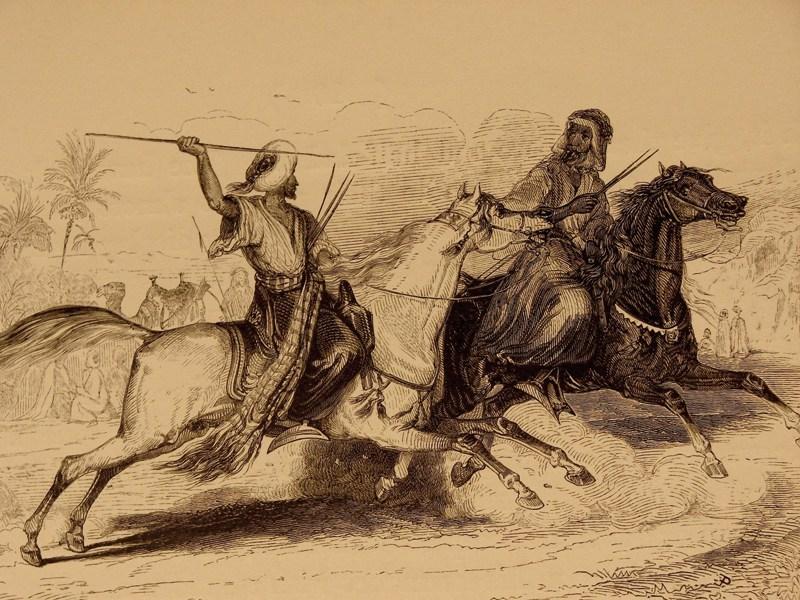 معارك صحراوية - رسمة تعبيرية