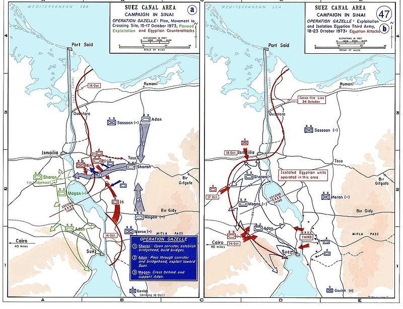 خريطة توضح ثغرة الدفرسوار