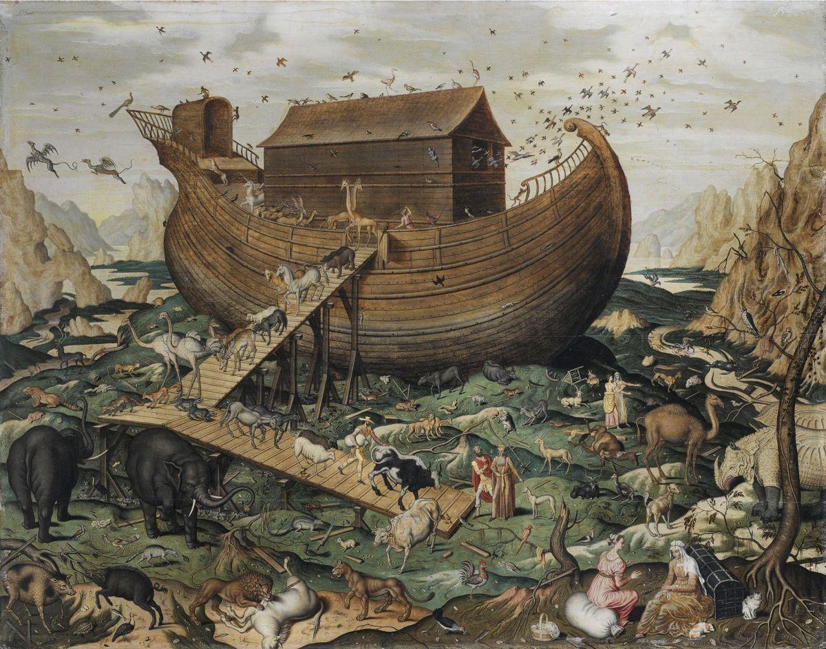 رسمة متخيلة لسفينة نوح