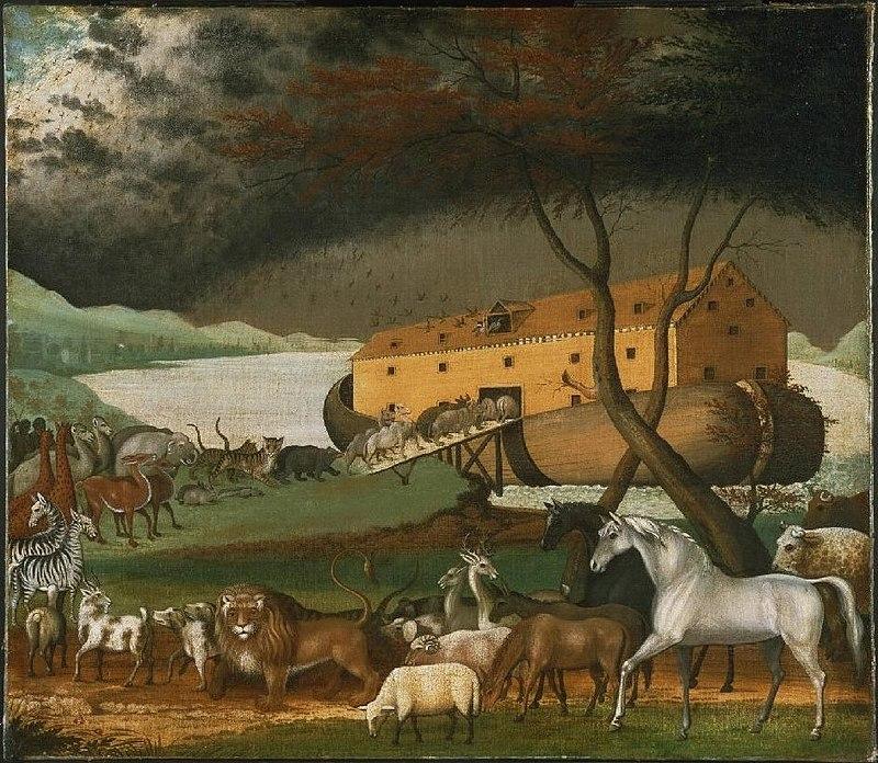 سفينة نوح حسب ما تخيلها الرسام الأمريكي إدوارد هيكس