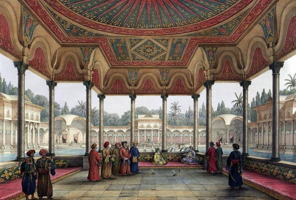 محمد علي باشا داخل قصر شبرا - رسم باسكال كوست