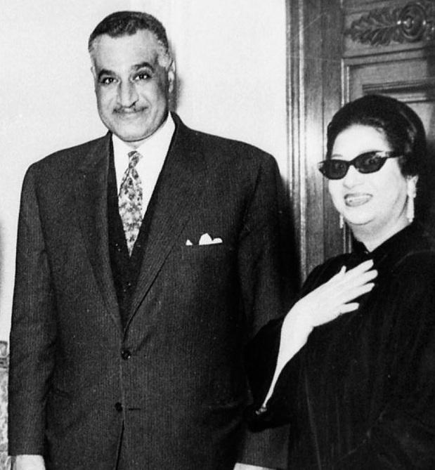 أم كلثوم وجمال عبدالناصر