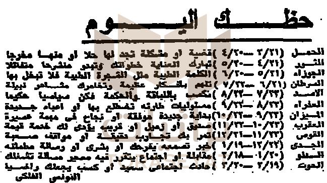 الأبراج يوم 6 أكتوبر 73
