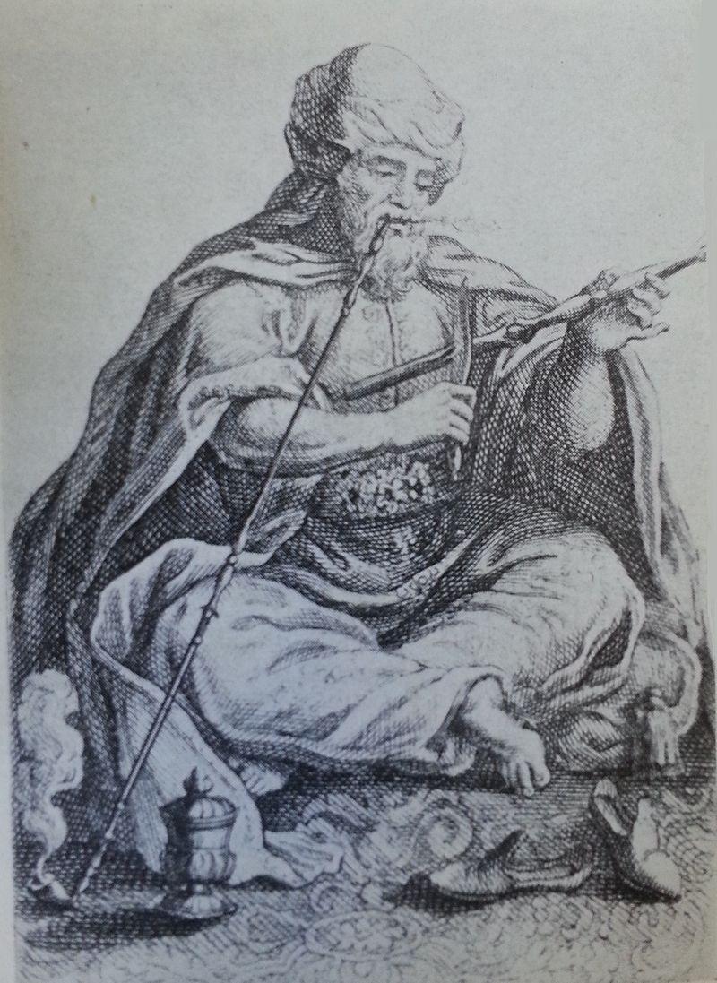 الأمير فخر الدين يُدخن الغليون في المنفى - رسم تخيلي