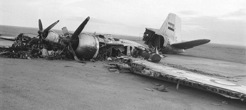 حطام طائرة مصرية سنة 1967 م